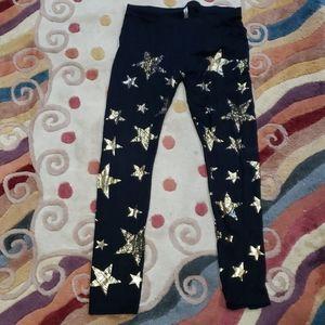 Black Leggings gold stars